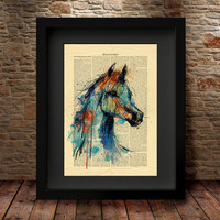 Horse Art, Home Art Poster, Wall Decor, Horse Poster, Horse watercolor Print, Animal Wall Art, Watercolor Art, Watercolor Print -49