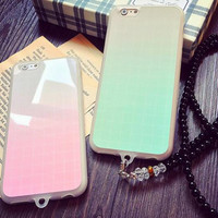 Gradient color couple mobile phone case for iphone 5 5s SE 6 6s 6 plus 6s plus + Nice gift box 080901