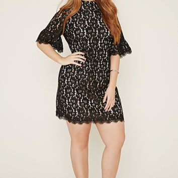 Plus Size Lace Sheath Dress | Forever 21 PLUS - 2000169637