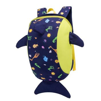 Anti-lost Mini Backpack Cartoon Whale Kindergarten Backpack Animals Dolphin Kids School Bags Kid Baby Backpacks Cute Travel Bag