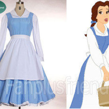 Disney Beauty and the Beast Disney Cosplay,Belle 3pcs Outfit (C00192)