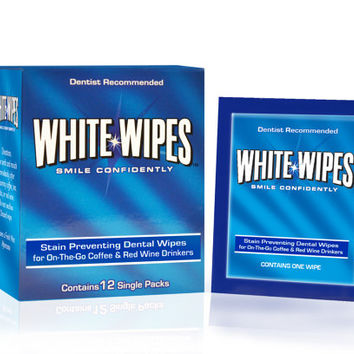 Teeth Whitening Wipes for Coffee & Red Wine Lovers