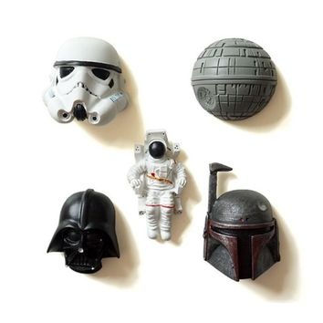 Star Wars Force Episode 1 2 3 4 5 1 Pc Hot sale New Arrival  Fridge Magnets Souvenirs 3D Resin Cartoon Decorative Refrigerator Magnetic Stickers for Kids AT_72_6