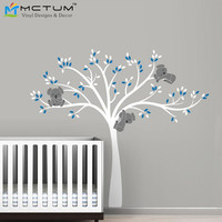 Oversize 220x196cm Koala Tree Wall Decals Mural Nursery Vinyls Baby Stickers Wall Decor Children's Wall Sticker