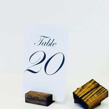 Table Number Holders, SMALL Rustic Table Number Holders (Set of 20)