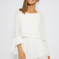 Darkest Night Playsuit - White