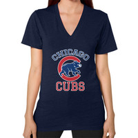 Cubs Baseball Team Chicago Allsex, Chicago cubs world series V-Neck (on woman)