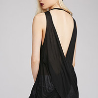 Draped Backless Tank