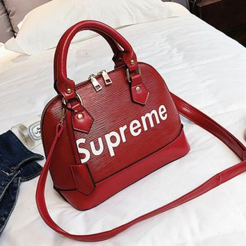 DCCKN6V Supreme Women Shopping Fashion Bag Leather Tote Handbag Shoulder Bag