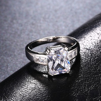 Square promise Rings
