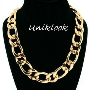 "POPULAR Runway Design Big Huge Bold Gold Chain 16""-19"" Necklace Fashion Jewelry"