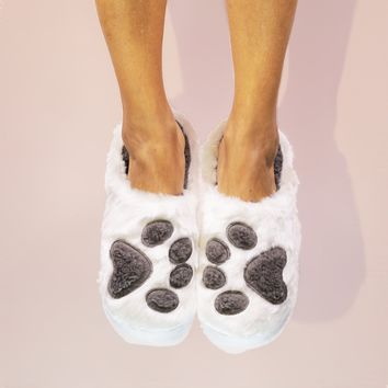 I Sleep With Dogs Classic Slippers by Faceplant Dreams