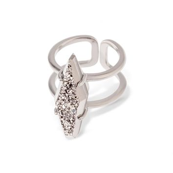 Boyd Silver Cocktail Ring in Platinum, S/M | Kendra Scott