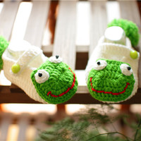 Crochet Cute Frog Handmade Baby Shoes Baby Boy Baby Girl Toddler Shoes