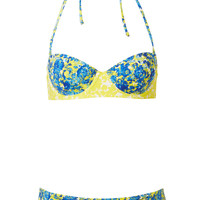 Blue Porcelain Floral Bikini - Hotshop - Collections - Topshop USA