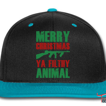 Merry Christmas Ya Filthy Animal Snapback