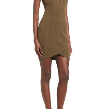 ASTR Lace-Up Body-Con Dress | Nordstrom