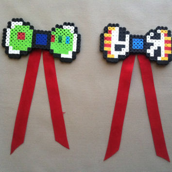 Best Friend Woody And Buzz Lightyear Perler Bead Bows