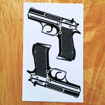Waterproof Temporary Tattoo Sticker on body sexy lace pistol gun tattoo water transfer flash tattoo fake tattoo for girl women
