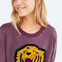Truly Madly Deeply Embroidered Tiger Pullover Sweatshirt - Urban Outfitters