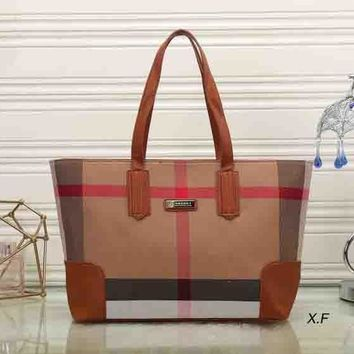 Fashion Zip Burberry Women Shopping Leather Handbag Tote Satchel Shoulder Bag H-MYJSY-BB-1