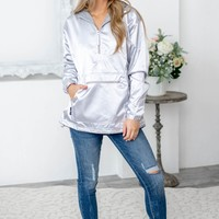 Silver Women's Chatman Anorak Jacket | Charles River