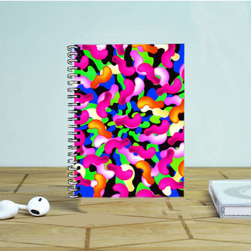 Abstract Colorful Bean Photo Notebook Auroid