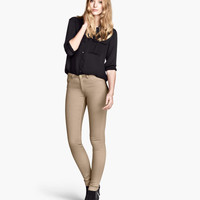 Slim-fit Twill Pants - from H&M