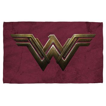 Wonder Woman The Movie Emblem Sublimation Beach Towel