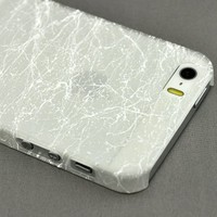 LiViTech(TM) Granite Stone Design Glow in the Dark Protective Hard Case for Apple iPhone 5s 5 (White)