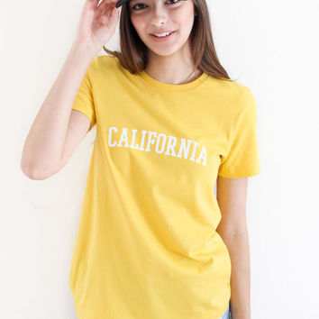 California Tee - Yellow