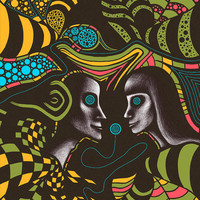 """Psychedelic art print. Large art print. Abstract art print. """"Couple"""" Limited Edition"""