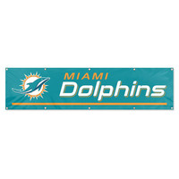 Miami Dolphins NFL Applique & Embroidered Party Banner (96x24)