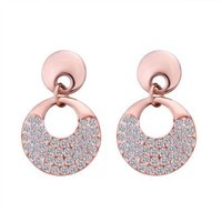 Gold Plated Ring Earrings Health Jewelry Nickel Free Rhinestone Austrian Crystal