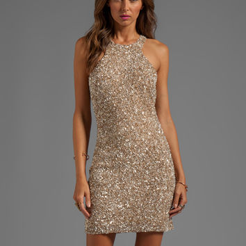 Parker Mariah Sequin Dress in Nude