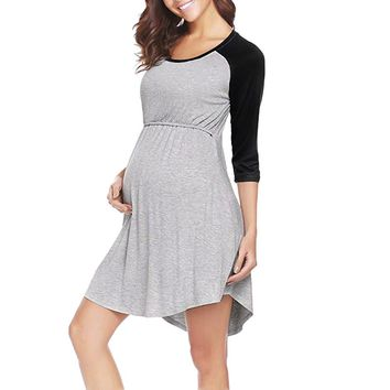 Telotuny women dress maternity dress  Nightgown Breastfeeding  clothes women dresses summer casual dresses oct 8