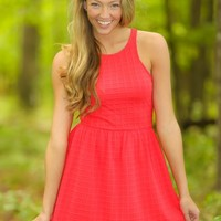 EVERLY:Map It Out Dress-Cherry
