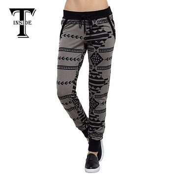 T-INSIDE 2016 Women Style Trousers Loose Casual Pants Cotton Women's Pants Quick Drying Fitness PantsRunning Sweatpants