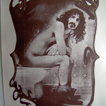 Frank Zappa - The thinker Vintage 1970's Poster