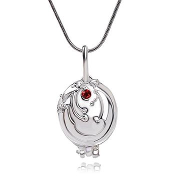 The Vampire Diaries Necklaces Elena Gilbert Lucky Verbena Neckalce Embedded Lovely Locket Necklace Can be opened Jewelry