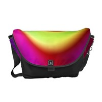 Abstract Rainbow Swirl Pattern Courier Bag