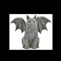 Winged Cat Gargoyle 6.5""