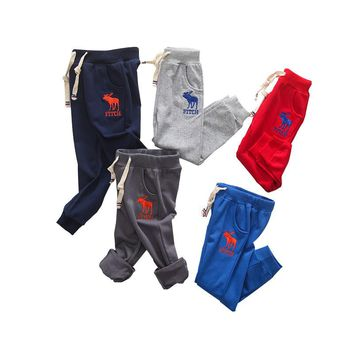 Boys Sweatpants Spring Autumn Long Sports Pants Little Bear Trousers Children Sweatpants 3-8 Years Kids Baby Boys Causual Pants