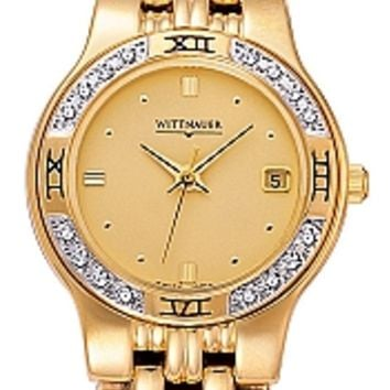 Wittnauer Laureate Collection Women's Diamond Gold Bracelet Watch 12R11