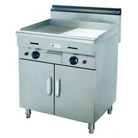 Gas Griddle With Cabinet - Half Flat, Half Grooved, 50–300 ℃, TT-WE186