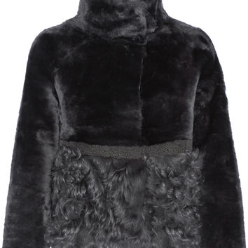 Tory Burch - Reversible shearling and leather jacket