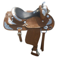 Blingy Silver Cross Western Show Horse Saddle