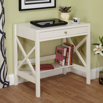Simple Living Antique White X Desk | Overstock.com Shopping - The Best Deals on Desks