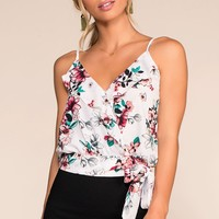 Pick Just One Floral Top - White