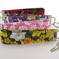 Key Chain Wristlet, Tulip, Pansies, Daisies or Daffodil